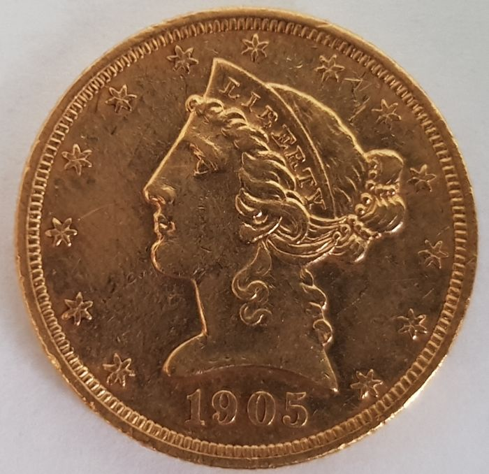 United States - 5 Dollars 1905 Liberty Head - Gold