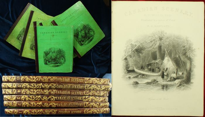 W.H. Bartlett and N.P. Willis - Canadian Scenery Illustrated [In Original Parts] - 1840/1842