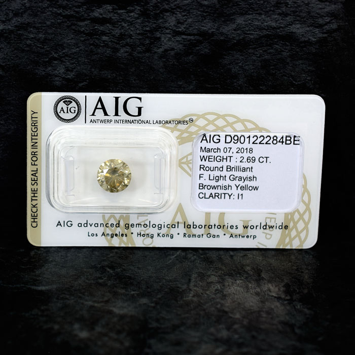 Diamond - 2.69 ct, EXC/VG/VG