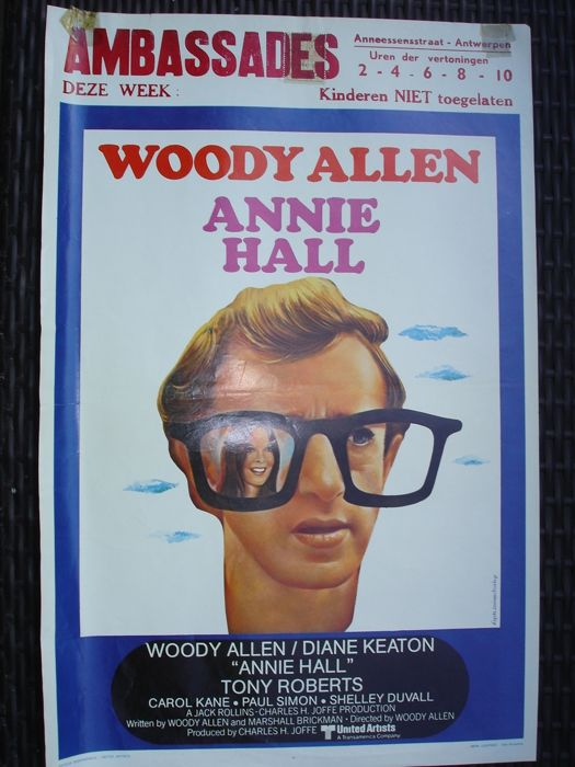 "Woody Allen 2 movie posters "" Annie Hall (1977) and Bananas (1971) "" original Belgian version"