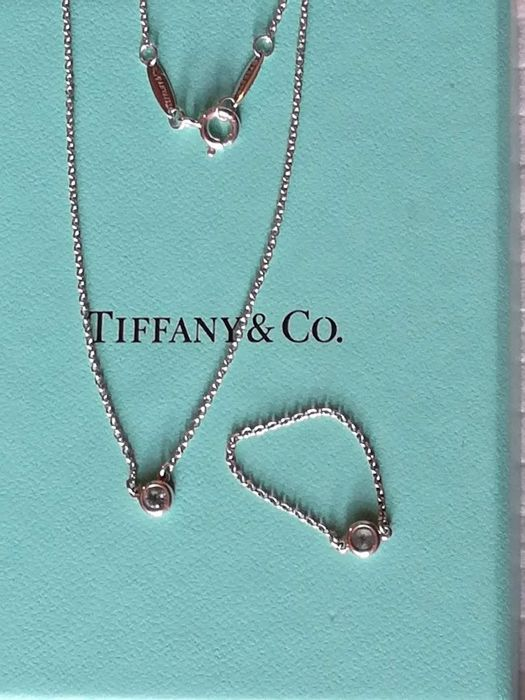 Tiffany & Co. by Elsa Peretti necklace and ring, Colour by the Yard line - 925 silver with aquamarine