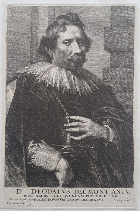 Lucas Vorsterman in collaboration with Van Dyck - Portrait of Artist Deodatus Delmont