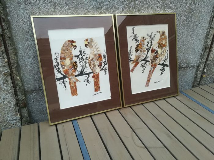 African Butterfly Art - designs using Butterfly wings - framed  (4)