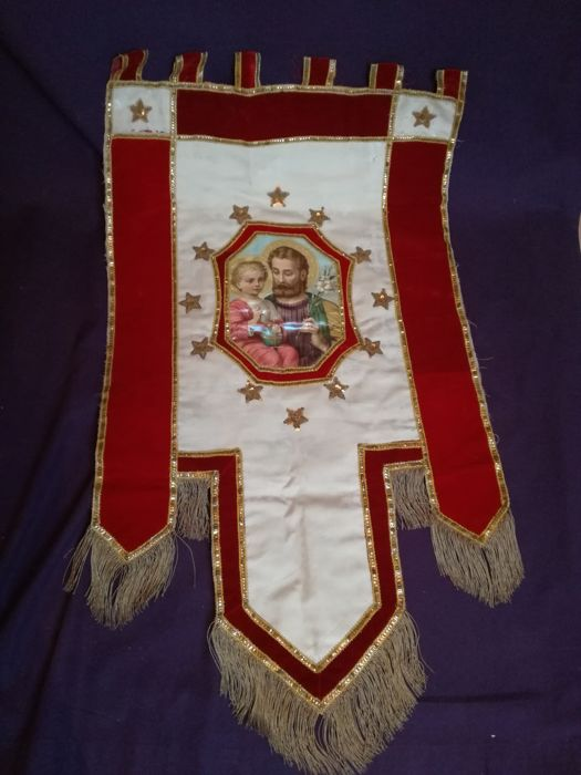 Procession banner - Christian religion - St  Joseph and