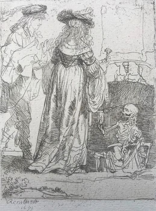 Probably M. Charreyre or A. Durand after Rembrandt - Youth Surprised by Death