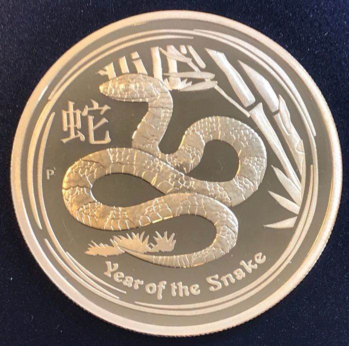 Australia - 100 Dollars 2013 Year of the Snake - 1 oz - Oro