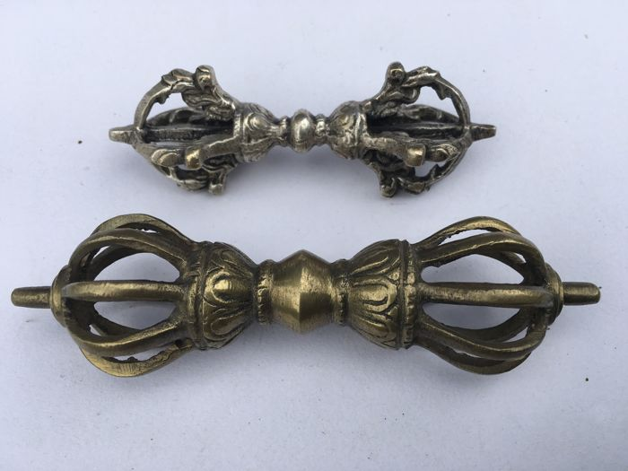 Two Vajra's or Dorje's - Tibet/Nepal - Late 20th century