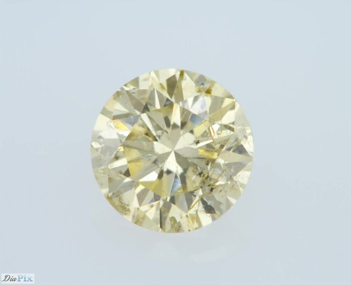 0.54 Carat Fancy Yellow Round Brilliant GIA Certificate Natural Diamond