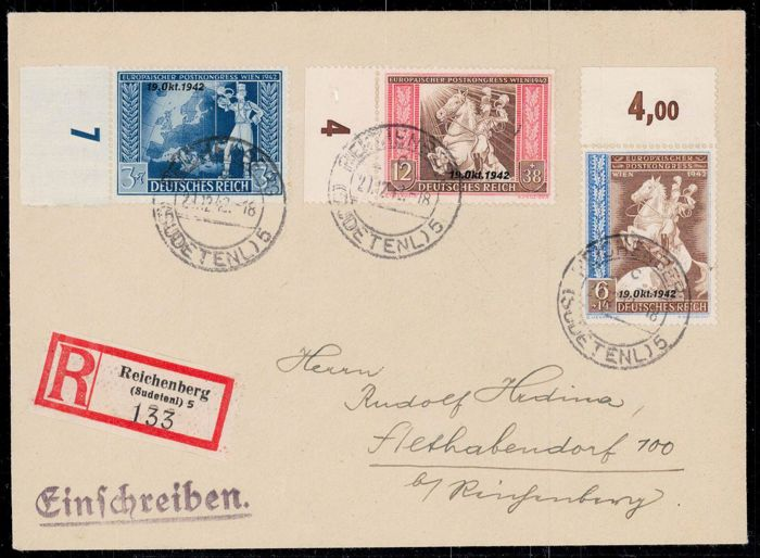 Germany - Local postal areas 1939/1944 - Sudetenland