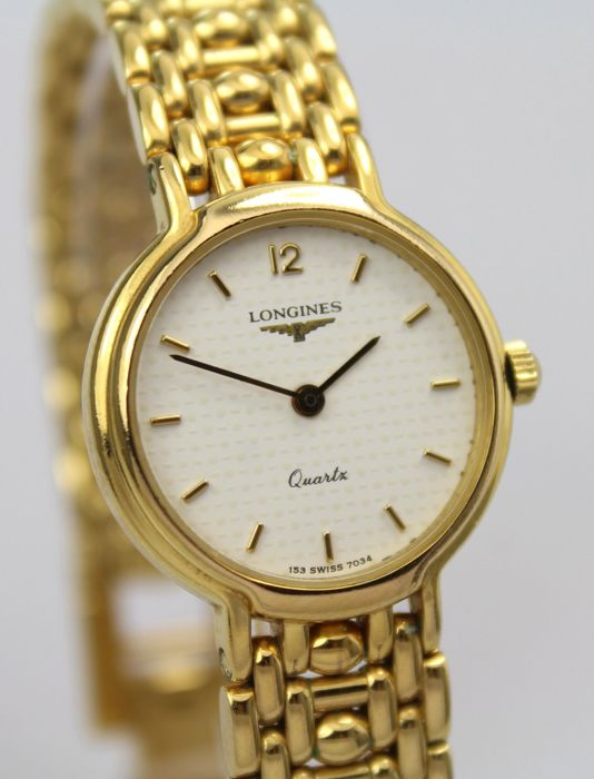 Longines - Gold Plated Watch Original Box & Papers - Women - 1990-1999