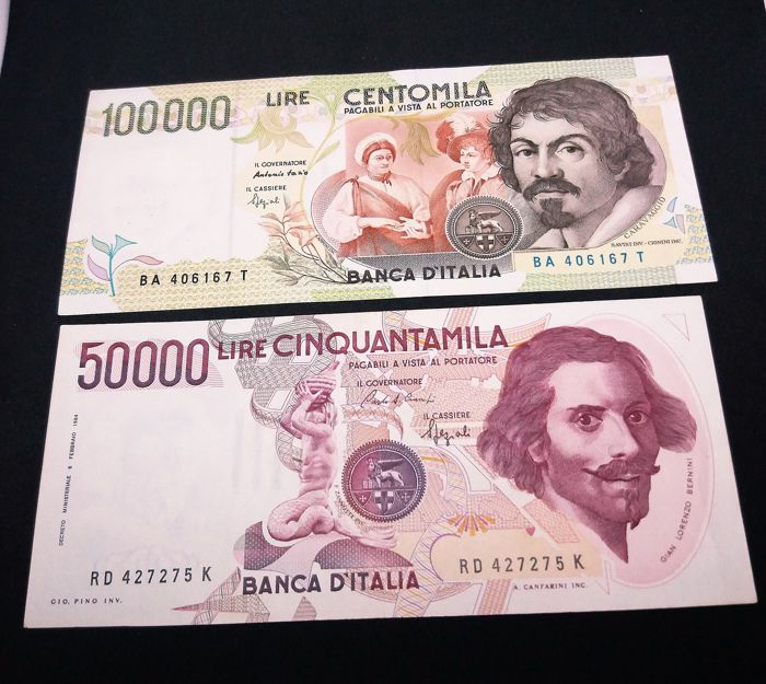 Italie - - 13 different banknotes 1966/1998