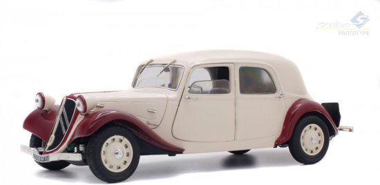 Solido - 1:18 - Citroen Traction 11CV 1938 Bi-Ton - Kleur Bordeaux Beige