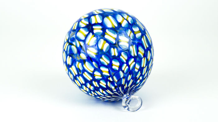 Campanella Livio (Murano) - Set of three Murrina Millefiori Christmas balls
