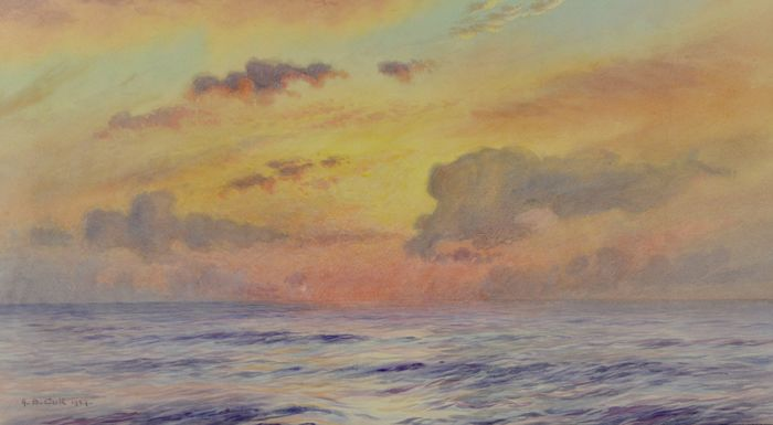 Alma Claude Burlton Cull. R.A. (1880-1931) - A seascape at sunset