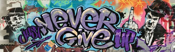 Pintura  - Never Give Up