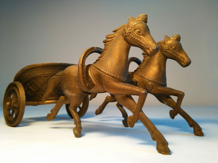 Ancient Roman chariot: for chariot warfare, parade or amusement rides, used in classical times.