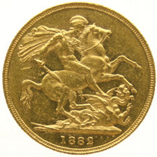 Australia - Sovereign 1882-M (Melbourne) Victoria - Gold