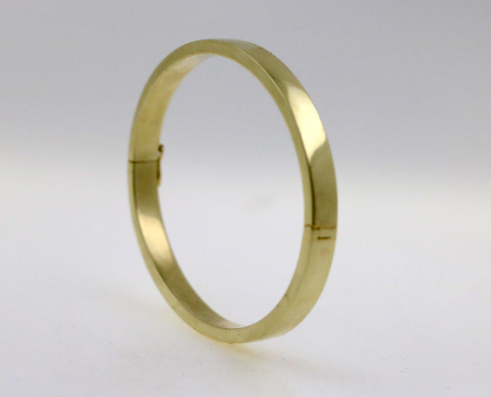 14 kt yellow gold bracelet - diameter: 52 x 62 mm