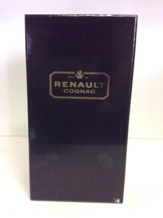1980s Renault Carte Noire Extra Cognac in Box with 4 glasses, France, 1 bottle 0,7L 40% Vol