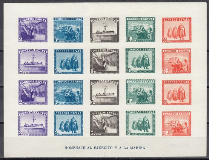 Spain 1938 - HB Army and Navy without spreading - Edifil 850