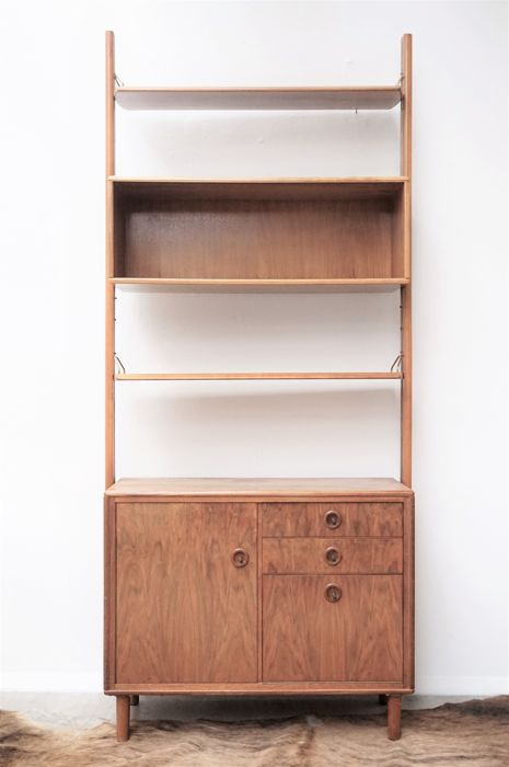 Manufacturer unknown - Vintage Mid-Century bookcase - display cabinet