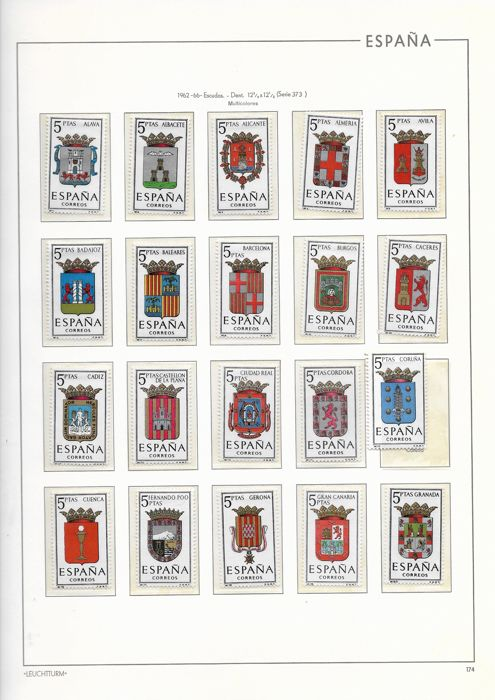 Spain 1962/1975 - Lot of stamps in complete series - Edifil entre 1541 y 2301