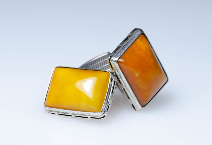 Antique silver with amber - Public amber manufacture (SBM), Königsberg