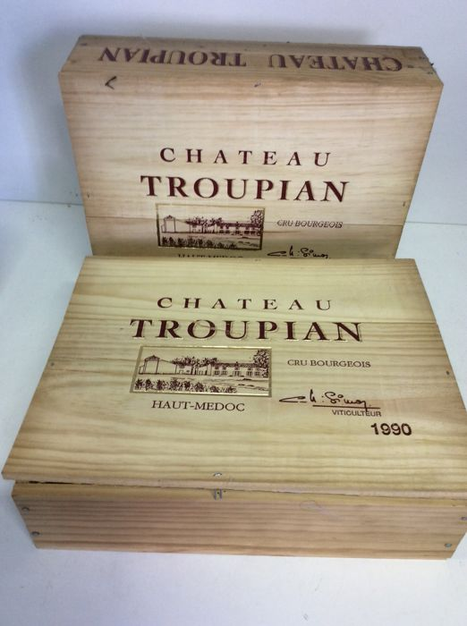 1990  Chateau Troupian Cru Bourgeois OWC of 3 bottles, Haut-Medoc, France, 6 bottles 0,75l