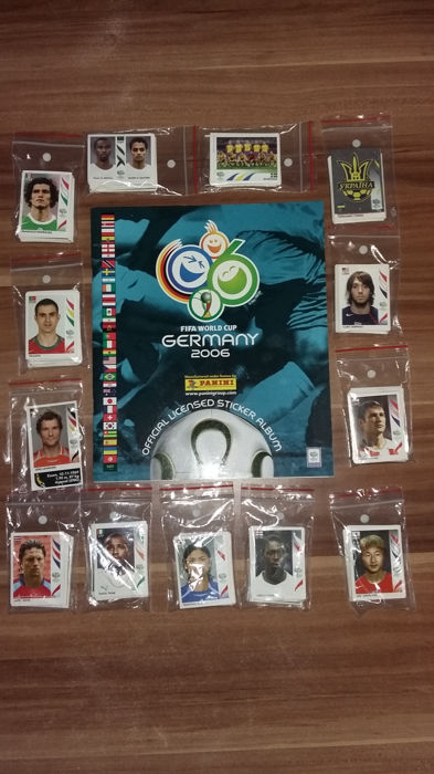 Panini - World Cup Germany - empty album + complete loose picture set (596).