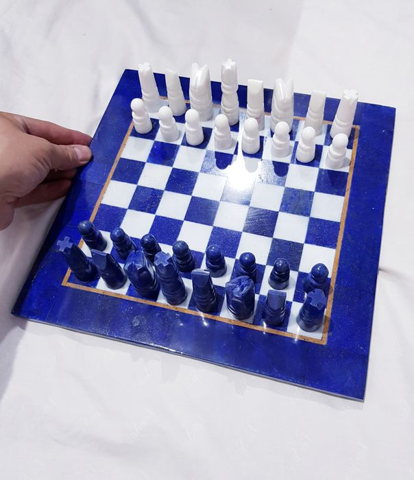 Amazing Stone Made Game Of Chess Board Made From Lapis