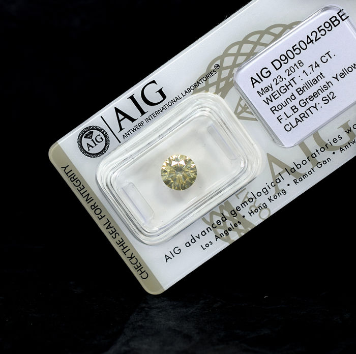 Diamond - 1.74 ct, Excellent Cut