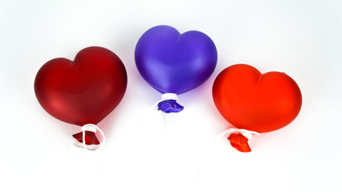 De Mio Giuliano (Murano) - Set of three satin heart balloons (1st size)