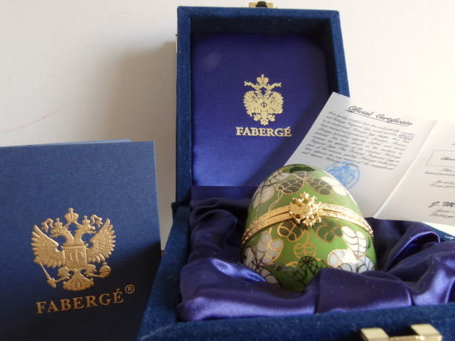 Faberge  - Imperial Egg - numbered - signed -   24k gold finished - Certificate of Authenticity