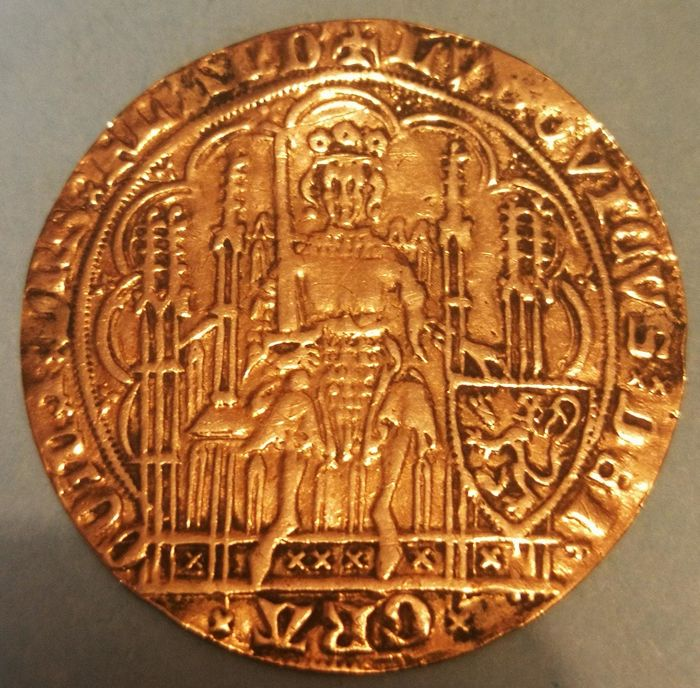 Belgium - Flanders (County of) - Golden Shield/ Ecu d'or  1373-1383  Louis de Male - Gand ou Malines  - Gold