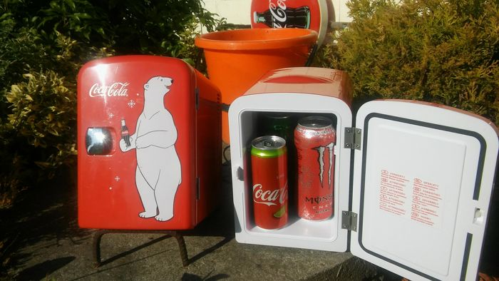 Set: 2x COCA COLA - refrigerator / tourist cooler - heater - two in one - 12V - as new.