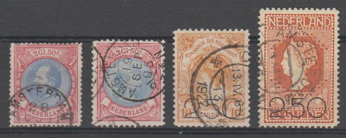 Netherlands 1872/1920 - Selection - NVPH 29, 47, 104/105