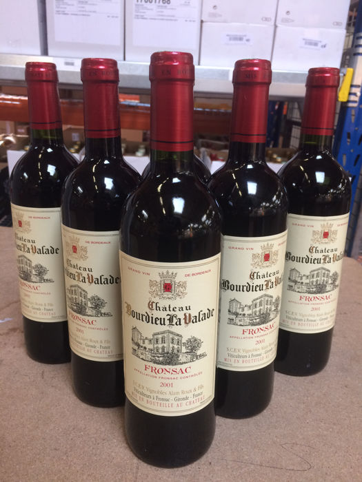 2001 Château Bourdieu la Valade, Fronsac AOC (Bordeaux right bank) - 6 bottles