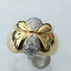 Gold 750 Ring with Diamonds for 0,25ct - size 54