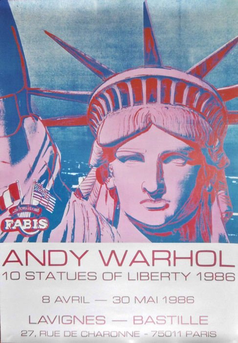 Andy Warhol - Ten statues of Liberty - 1986