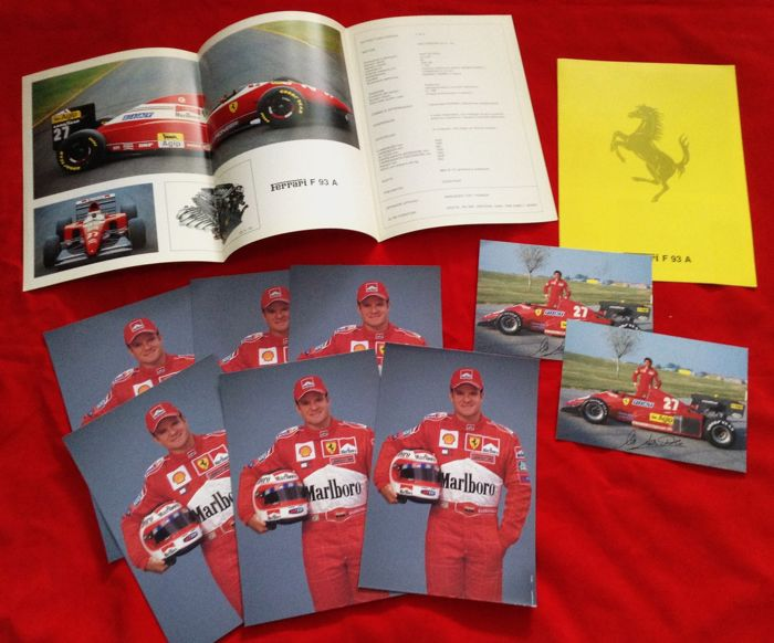 100 - Ferrari Postcards Barrichello Alboreto F93A Depli. (10 items)