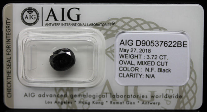 3.72 ct. Certified Natural Fancy Black Diamond - NO RESERVE