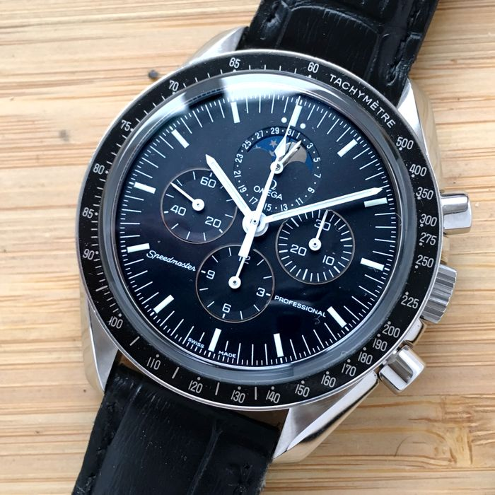 Omega - Moonphase Speedmaster Moonwatch Chronograph - 38765031 - Heren - 2000-2010