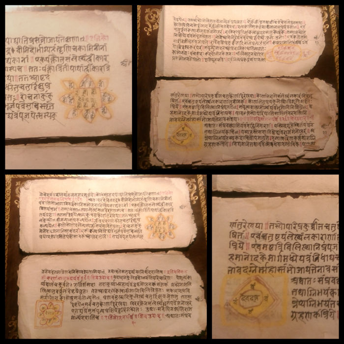 India; Ancient manuscript on Tantra (esotericism) - 1860