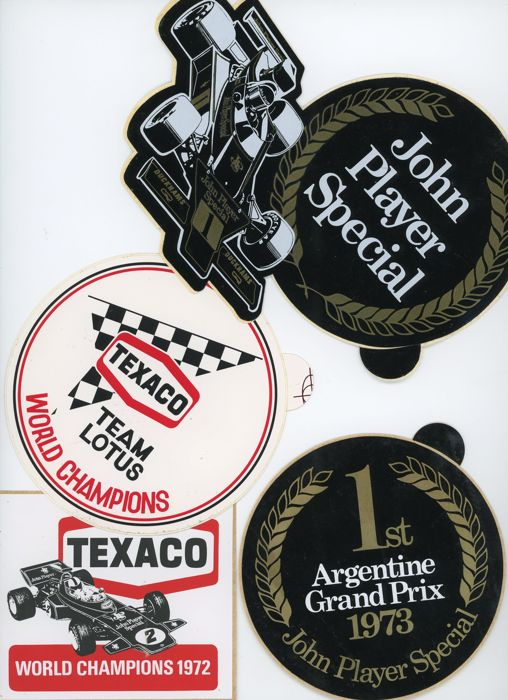 original lotus decal - 5 Original 1970s Lotus Stickers JPS Texaco (5 items)