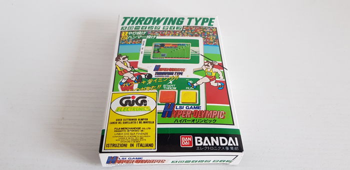 Hyper Olympic Bandai Throwing Type lcd Handheld Game 1983 Rare