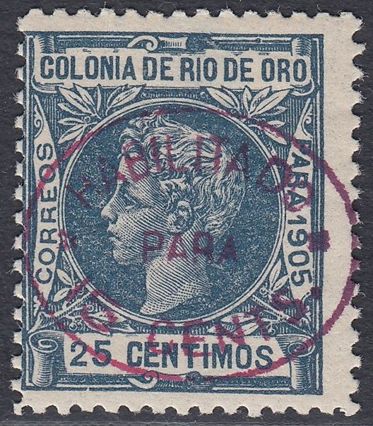 Rio de Oro 1907 - Seals enabled with new value. - Edifil 17