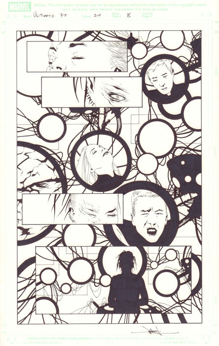 Ultimate Fantastic Four #20 - Original Artwork  - Pagina singola - Prima Edizione - (2005)