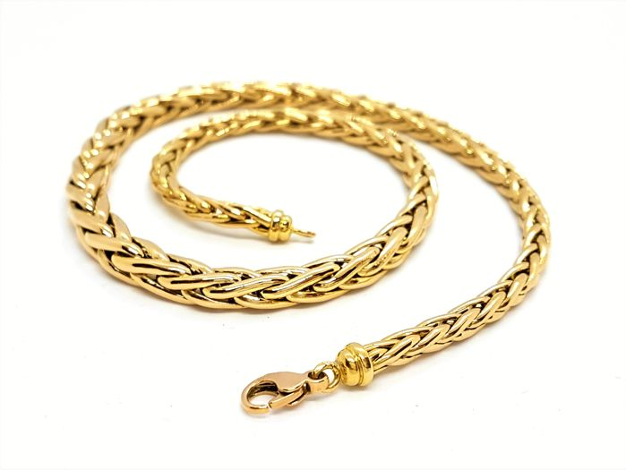 Necklace - 18 kt yellow gold - Palm tree links - Length: 45 cm