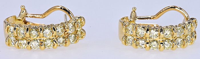 1.88 Ct Diamond earrings NO RESERVE price!