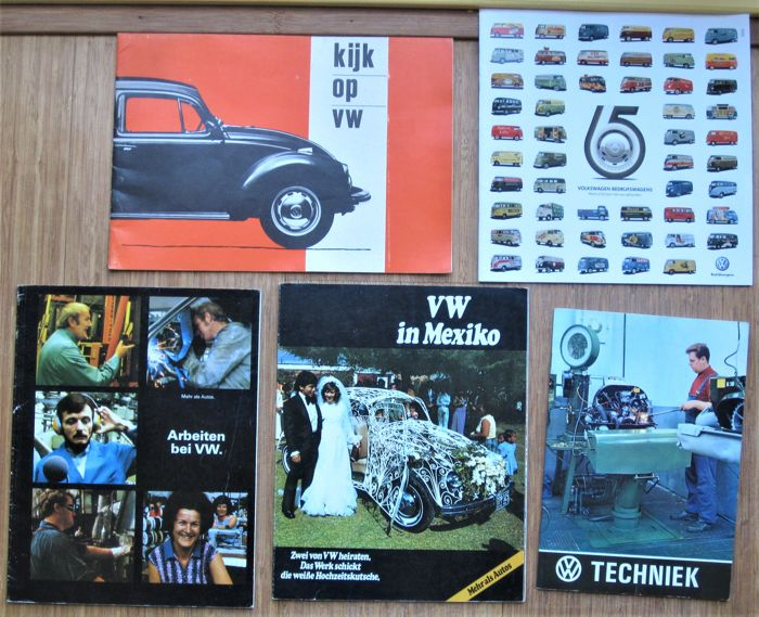Brochures / Catalogi - Volkswagen - Techniek - Arbeiten bei - in Mexiko e.a. (5 items)